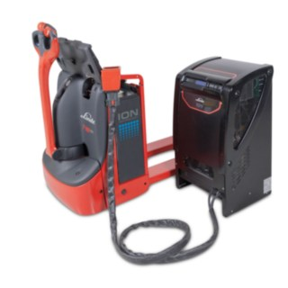 Linde pallet truck with Li-ION battery and charger